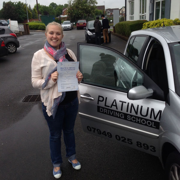 Lindsey passes driving test