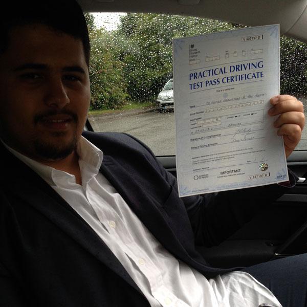 Hamza Driving Lessons Success