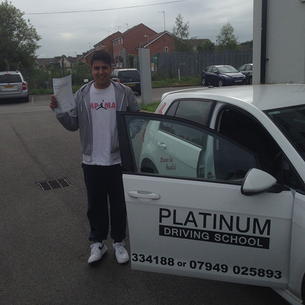 Leamington Spa based Gurdeep's driving lessons lead to a test pass