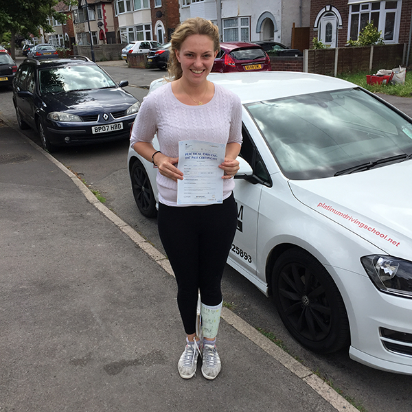 Audley, Warwick University student passed her driving test